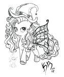 Fluttershy witch costume (Drawing) by karlosbaygorriakb