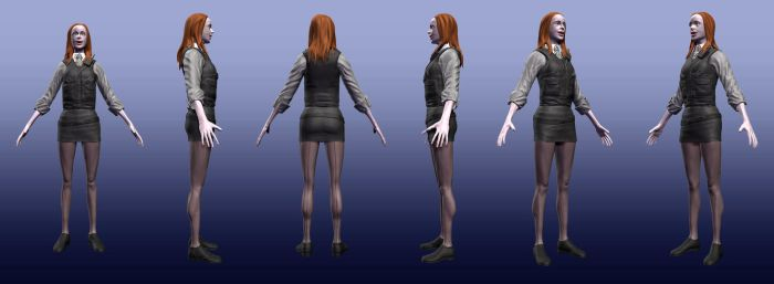 Amy Pond CharacterStrip WIP by Psybernaut
