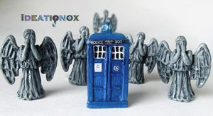 The Angels Have the Phone Box! Clay Charms by Ideationox
