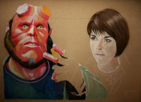 Hellboy WIP 3 by WitchiArt