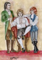 Lestat, Louis and Armand by the-infamous-padfoot
