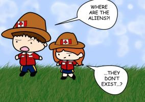 Mulder And Scully: Mounties by queegy