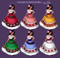 Dress Designs for Dahlia Del Mar - Volume 1 by MusicalNumber