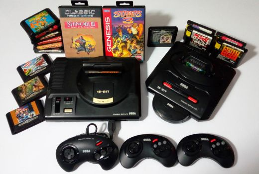 The Sega Mega Drive collection. by GrimShady