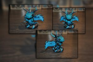 Baby Liquorice Dragon by KirstenBerryCrafts