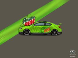 The Mountain Dew Scion Tc by fastworks