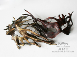 Tree Sprites - brown and gold by nondecaf