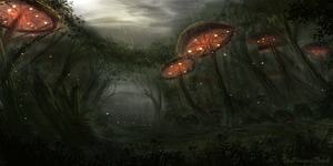 Mushroom Forest by JKRoots