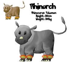 Fakemon 004 - Rhinorch by RaptorRexIII