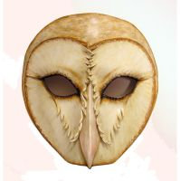 Barn Owl Leather Mask by teonova