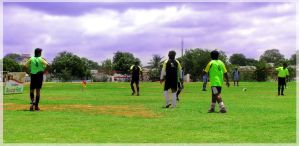 day at soccer ground by artsrajesh