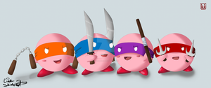 Teenage Mutant Ninja Kirby by LinkSketchit