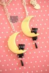 Mio Miao on the Moon by LeChatNoirHandMade