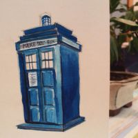 Tardis - Watercolour by nataliebeth