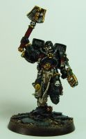 Imperial Fists Chaplain by cyphercodicer2