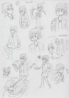 Lots of Hiccup doodles... by sailor663