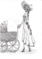 woman with pram by aangeel