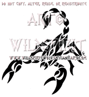 Aggressive Scorpion Tribal Design by WildSpiritWolf