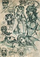 Star Wars OC's doodles by Reliah