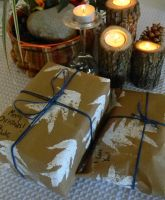 DIY Easy Stamped Wrapping Paper Tutorial by colormecrazi