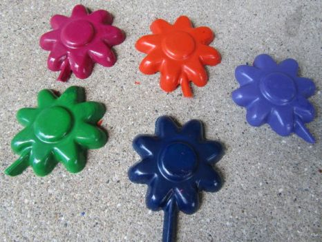 Flower Crayons by SharpieObsessed