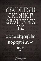 Steampunk alphabet by Naistolenn