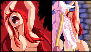 Erza and Kyouka Commission 2 Coloring by Planeptune
