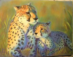 Cheetah Mom by Xunau66