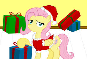 Fluttershy Wishes Everyone a Merry Christmas by camike1234