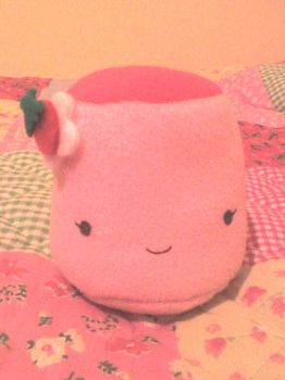 strawberry pudding plushie by VioletLunchell