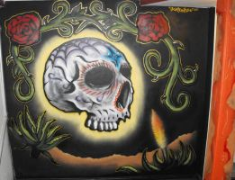 Skull and Roses by KORTEXTURE