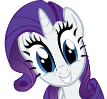 Rarity happy by DrunkHedgehog