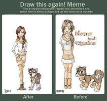 Before and after meme by Nekoshiba