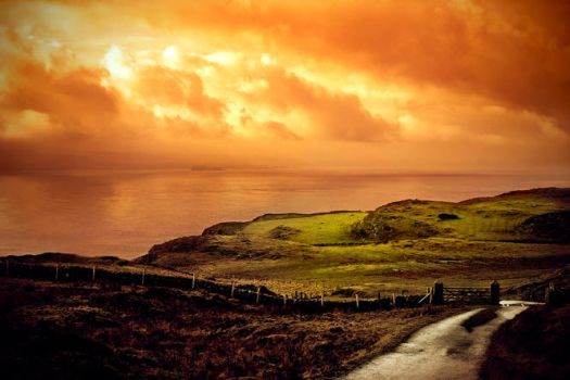 View From Rathlin Island, Antrim Coast, Ireland by alessandrodelp