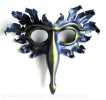 Bird mask, metallic lavender and green-gold by shmeeden