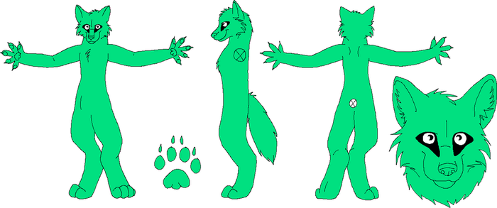 free fursuit design lineart MSpaint FIXED by ripple09