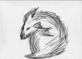 Gesture Drawing - Dog by DKayCrafts