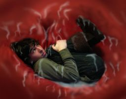 HTTYD - Curled Up - Vore by DR4WNOUT