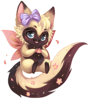 Lotus - Chibi Commission by clover-teapot