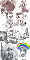 TF2: random Sketches2 by DarkLitria
