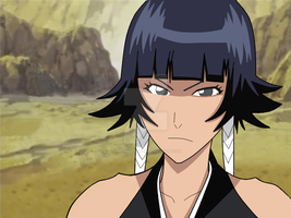 Soi Fon drawing with BG by gamemaster8910