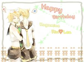 Happy Birthday Kagamine Twins2 by RoezNoah917