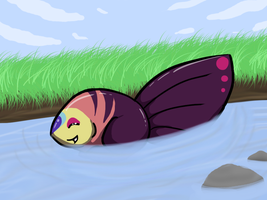 Dusk Swimming by Wolf-Alpha