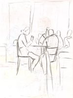 Cafe drawings 31 by Adele-Waldrom