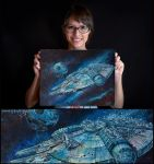 Millennium Falcon by AngelaBermudez