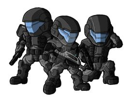 Chibi Halo 2 ODSTs by GuyverC