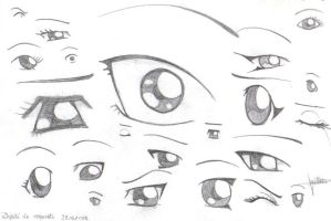 manga eyes by x3mOgirlx