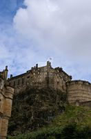 Looking Up at Edinburgh Castle by HyperCaz
