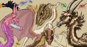 iscribble dragon cave by drawmeadream