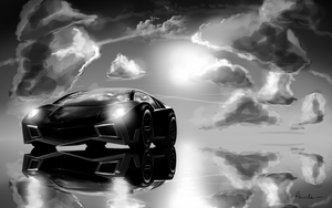 Lamborghini concept black and white by Reinder88